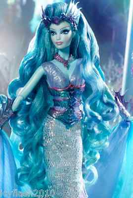 Faraway Forest Water Sprite Barbie doll Facial: Karl Lagerfeld Barbie in hand