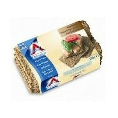 ATKINS - ADVANTAGE WHEAT & RYE CRACKER 100G x 6