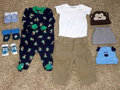 Newborn Baby Boy MUST Haves! Lot Of 9 Adorable Items Sized 0-6 Months