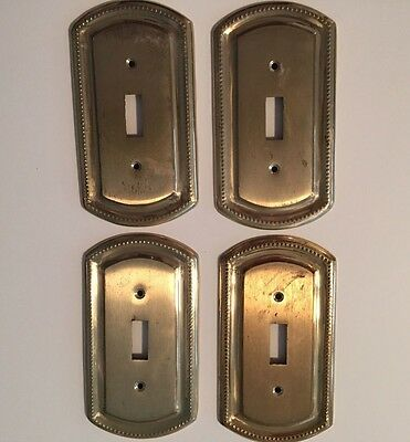 "Solid Brass Electric Light Switch Plates 3"" x 5 1/4"""
