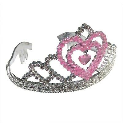 Heart Silver Crown With A Heart Pendulum