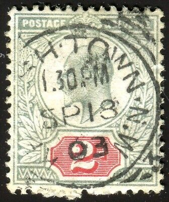 KEVII. 2d (1903) SG#227 Pale Green/Carmine. used