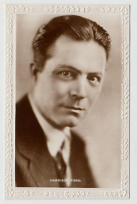 POSTCARD - Harrison Ford, silent movie film cinema actor, RP real photo