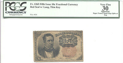 Fr.1265 10 Cents Fifth Issue Fractional Currency PCGS Very Fine 30 apparent