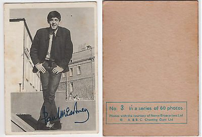"""Original 1964 A & B C Chewing Gum """"The Beatles"""" Trading Cards, B&W, 10 of 60"""