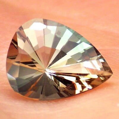 GREEN-PINK DICHROIC OREGON SUNSTONE 1.75Ct FLAWLESS-FOR TOP JEWELRY-VIDEO