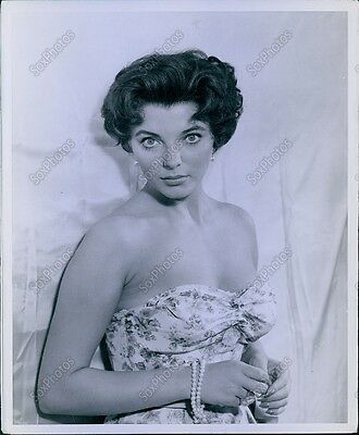 CA138 Original Photo JOAN COLLINS Gorgeous Hollywood Star Sexy Strapless Dress