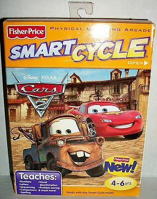 Fisher Price Smart Cycle Disney Pixar Cars Learning Arcade Game MIB Mater