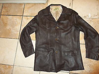 vintage 60s  mid western deerskin leather jacket coat men sz 42