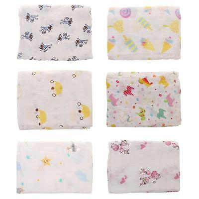 110x110cm Soft Muslin Baby Swaddling Blanket Newborn Infant Cotton Swaddle Towel