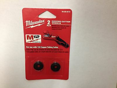 NEW GENUINE MILWAUKEE COPPER CUTTER WHEELS 48-38-0010  (includes 2 wheels)