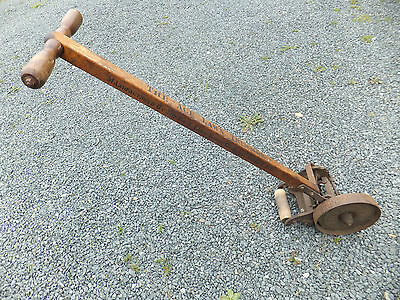 Rare Vintage Push Iron Wheel ACE Lawn Edger Trimmer Mfd by F&N Lawn Mower Co Ind