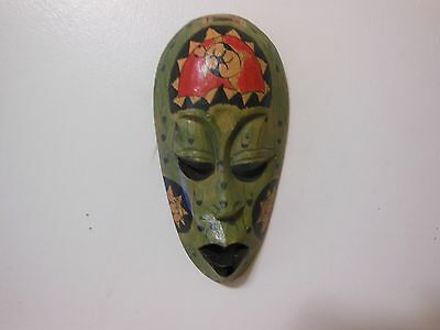 Smoll Mask Red Green And  Black Handmade  Wall Art Home Decor