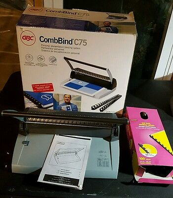 GBC CombBind C75 Binding System 7704231 WITH EXTRAS SEE PICTURES