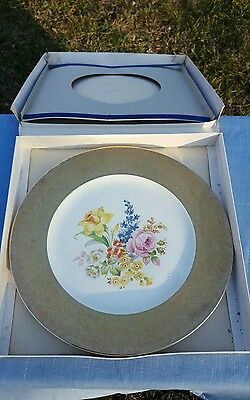 Edwin Knowles porcelain Plate with Gold encrusted Floral design