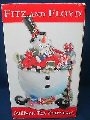 Sullivan the Snowman Fitz and Floyd Cookie Jar
