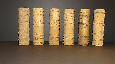 Lot of 6 Gem Concert Roller Organ Music Box Cobs Rollers Gospel TESTED WORKING