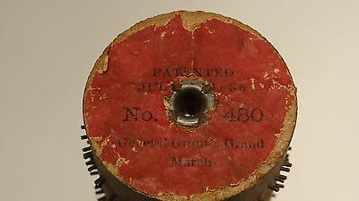 Gem Concert Roller Organ Music Box Cob Roller TESTED General Grant's March #480