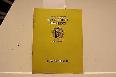 """Jesus christ revolution"" theatre program from 1972"