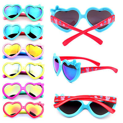 Boys Girls Heart Bow-knot Goggles Children Colorful UV Protection Baby