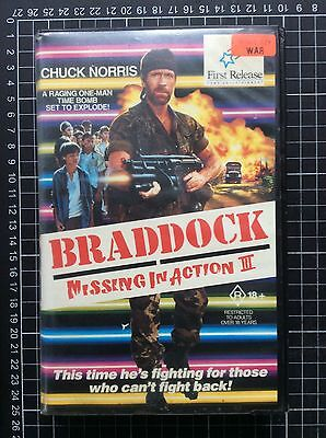 MISSING IN ACTION III rare RCA BETA not VHS Video cult 80s Chuck Norris action