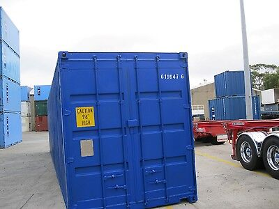40Ft High Cube Shipping Container - Blue - Sydney