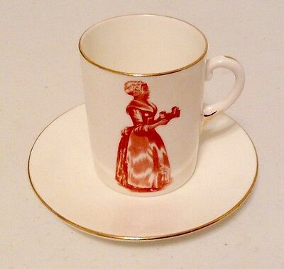 """Antique Baker's Cocoa Cup & Saucer """"Made In England For Walter Baker & Co"""" RARE!"""