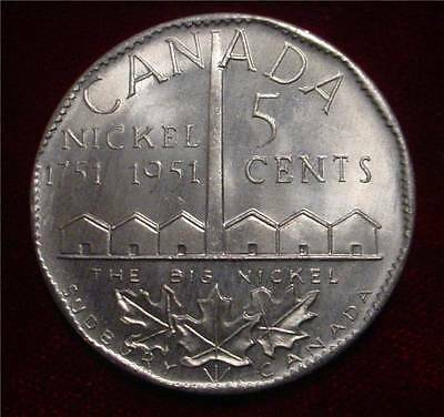 The Big Nickel Silver Dollar Size 1951 Solid Aluminum Canada Commemorative Coin