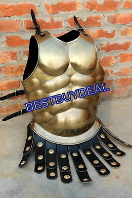 Medieval HALLOWEEN COSTUME BRASS ANTIQUE GREEK ARMOR JACKET SCA LARP SDFG145 VC8