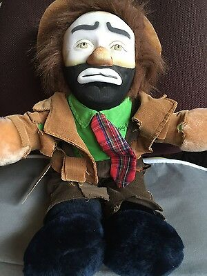 "Vintage, EMMETT KELLEY  Jr. Plush Hobo ""Clown"" Doll, FLAMBRO, never played with!"