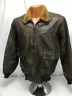 Vintage US Navy Buaer 55J14 (AER) Leather Pilots G-1 Flight Jacket