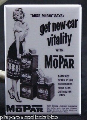"Miss MOPAR 2"" X 3"" Fridge / Locker Magnet. Vintage Advertising"