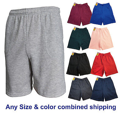 Plain Atletic Fleece Workout Gym Sport Soft Sweat Short S-5XL Men Women Unisex