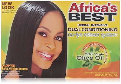 No-lye Dual Conditioning RelAxer System By Africa's Best, New