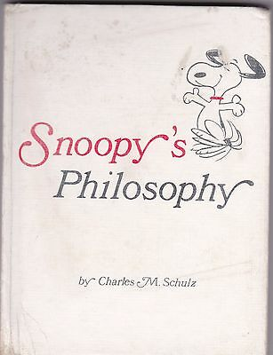 RARE Snoopy's Philosophy BY: Charles M Schulz (Hallmark, Hardcover) 125GBL 104-1