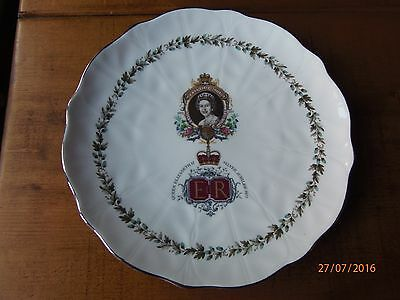 Royal Sutherland Fine Bone China Plate commemorating QEII Silver Jubilee 1977
