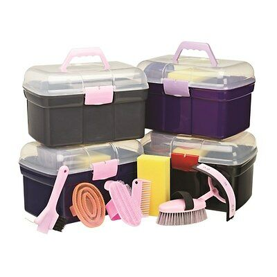 Cottage Craft Grooming Kit Box Purple & Lilac/Pink & Navy/Grey & Pink