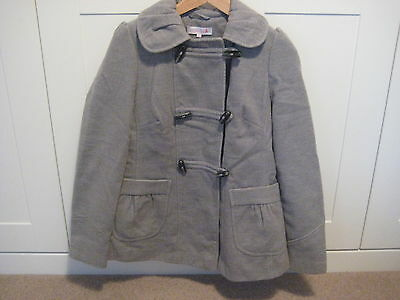 Womans Light Grey Red Herring Maternity Coat Size 8