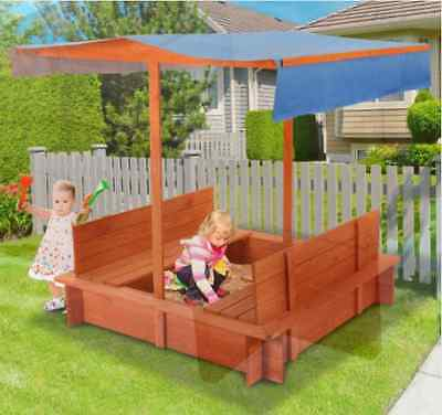 Brand New Outdoor Wooden Sandpit with Canopy