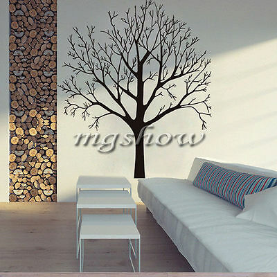 Black Abstract Tree Room Wall Decal Art Stickers Mural Home Vinyl Family Decor