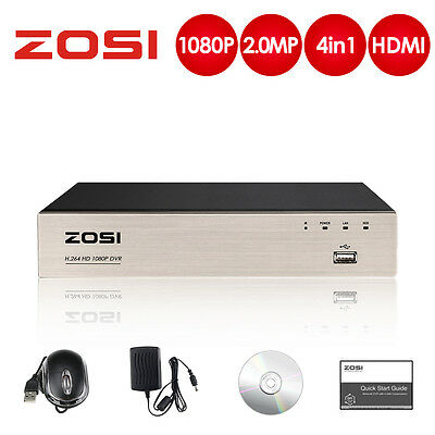 ZOSI 4in1 1080P HDMI 8CH DVR CCTV HD Video Recorder for Security Camera System