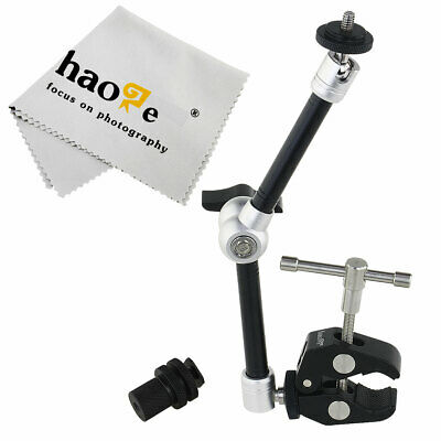 "11"" Inch Articulating Magic Arm + Super Clamp for LCD Monitor LED Light Tripod"