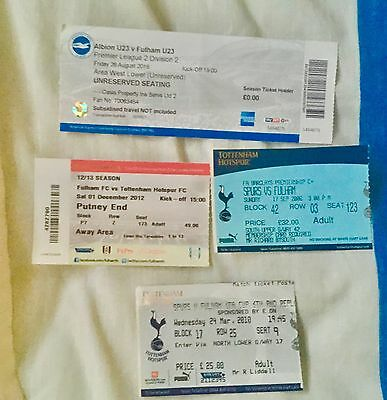 Mixed Bag Of spurs v Fulham Match Tickets Home & Away Various Seasons.
