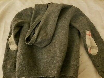 Burberry kids hooded 100% wool sweater