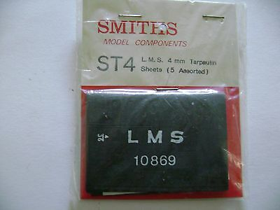 SMITHS ST04 Wagon Tarpaulins OO/4mm suit Hornby,bachmann wagons