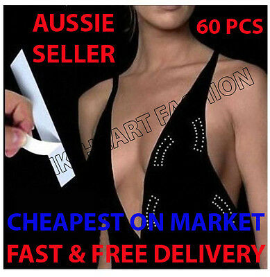 60 Pk Invisible Secret Hollywood Fashion Tape Dress Wig Toupee Cheapest on Sale