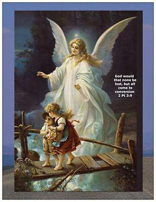 New Christian Guardian Angel Fridge Magnet, Great Gift, No Postage