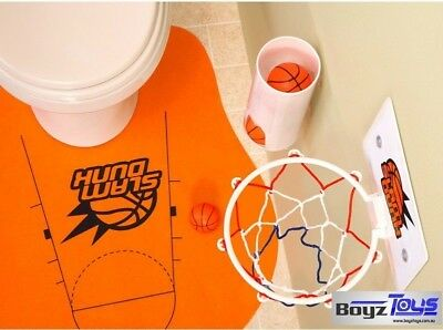 DUNK N FLUSH TOILET BASKETBALL, Funny Gift for Guy Man Batch Pad, Unique Novelty