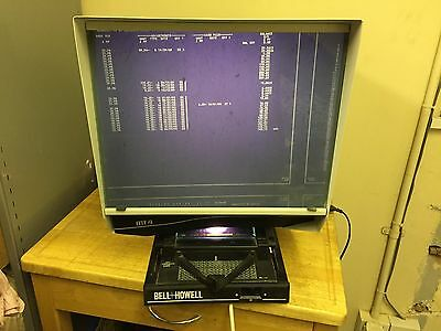 Bell and Howell MT4 Microfiche Reader