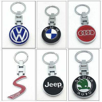 Car Auto Logo Fashion Titanium Key Chain Keychain Ring Keyfob Metal Keyrings